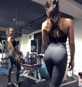 High Waisted Gym Leggings Grey